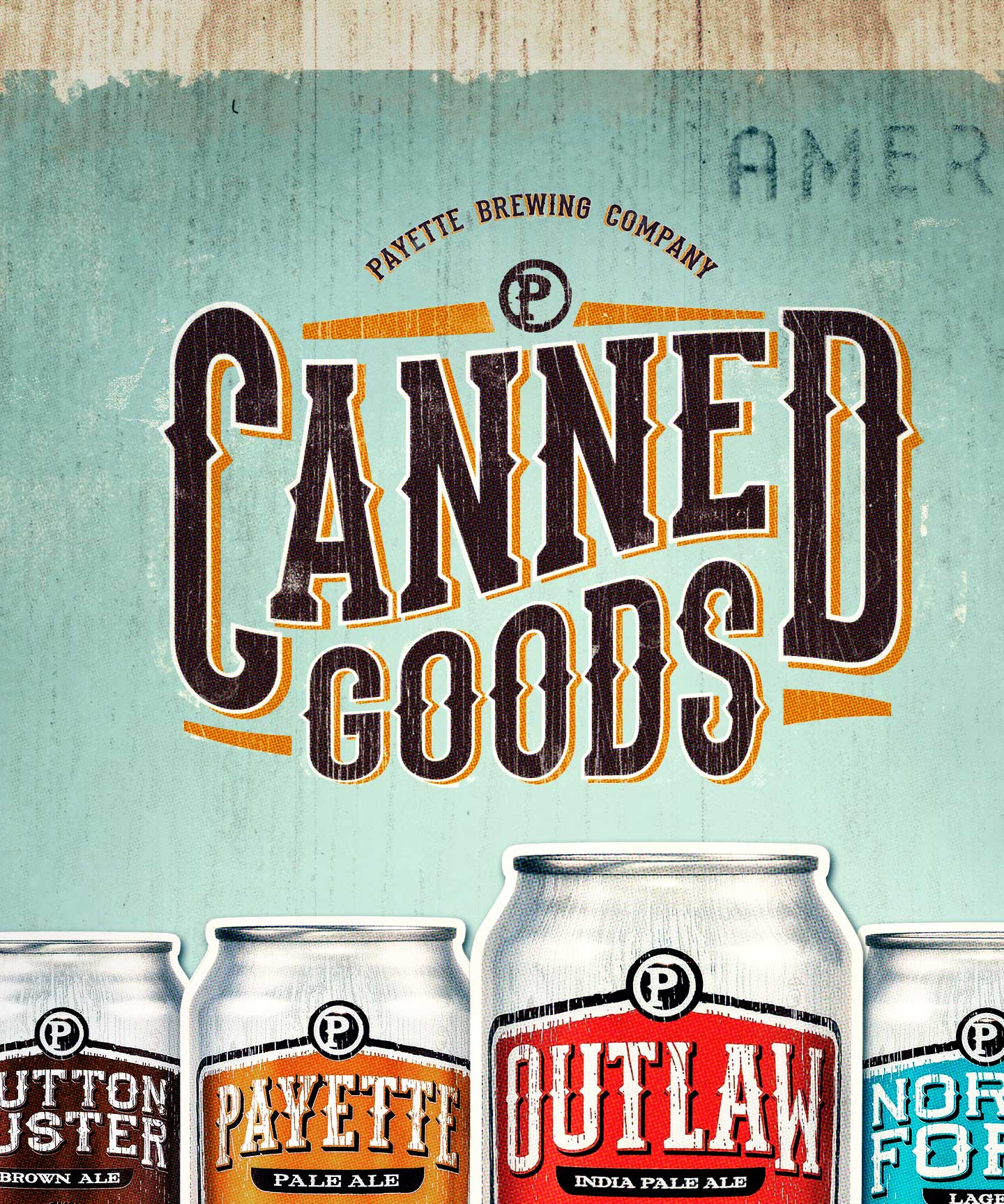 Payette Canned Goods poster design