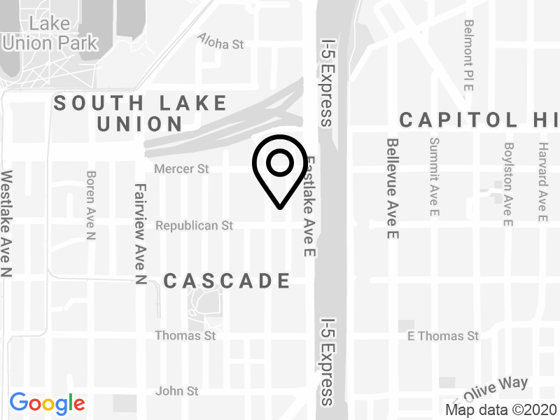 Seattle map showing Drake Cooper office location